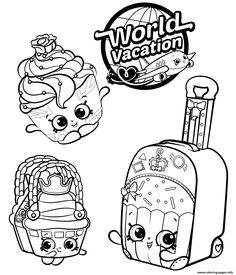 Shopkins 8 Season World Vacation coloring pages printable and coloring book to print for free. Find more coloring pages online for kids and adults of Shopkins 8 Season World Vacation coloring pages to print. Shopkins Coloring Pages Free Printable, Shopkin Coloring Pages, Star Coloring Pages, Coloring Pages To Print, Coloring Pages For Kids, Coloring Books, Coloring Sheets, Shopkins Drawings, Pusheen