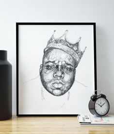 Nortorious B.I.G. Biggie Smalls Poster / by HelloHappyPrintCo
