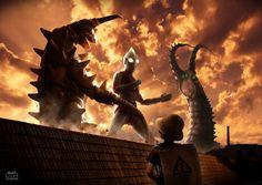 【デジラマ】帰ってきたウルトラマン-二大怪獣東京を襲撃-