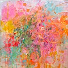 When I was gazing at these abstract paintings by Conneticut artist Sandy Welch, one word came to mind: abundance.