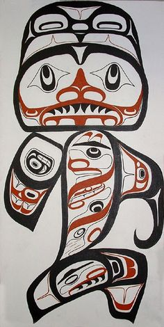 Shark by Michael Dangeli (Nisga'a, Tlingit, and Tsimshian Nation)