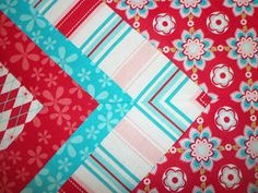 Saltwater Quilts: Tutorial: Quilt Border with Mitered Corner ... : mitered quilt borders easy - Adamdwight.com