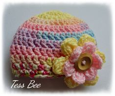 Chunky Baby Girl Hat, Chunky Flower Hat, Statement Flower, One of a Kind, Pastel Hat, Baby Shower Gift, Baby Birth Gift, Photo Prop, Newborn Baby Beanie Hats, Baby Girl Hats, Girl With Hat, Baby Flower, Flower Hats, Birth Gift, Baby Birth, Chunky Babies, Pink Lemon