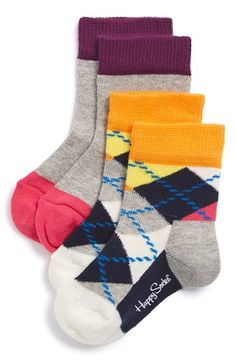 Happy Socks Argyle Socks (2-Pack) (Baby & Walker) available at #Nordstrom