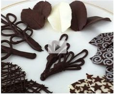 How to make Chocolate garnishes decorations >> http://awesomefood1.blogspot.co.il/2013/05/how-to-make-chocolate-garnishes_10.html