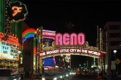 I miss Reno sooo much! Stayed in that very hotel behind the sign. Eldorado! :)