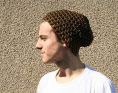 Tobacco brown crochet cotton hat  Crocheted Hat  by EllenaKnits, $24.00