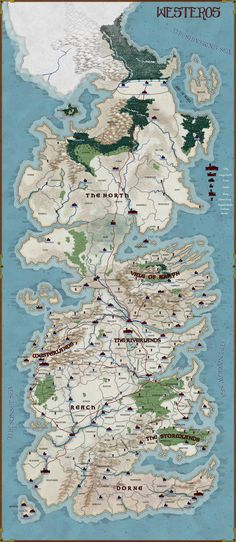 Map of Westeros -- Commission by stratomunchkin.deviantart.com on @DeviantArt