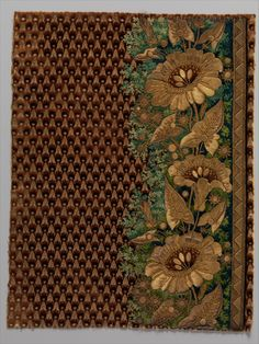 http://www.metmuseum.org/exhibitions/view?exhibitionId={4edead01-d1aa-4d36-8669-8308a01f5b6f} Embroidery sample for a man's suit Date: 1800–1815
