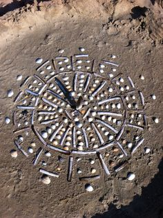 Beach fun - natural mandala #wasagabeach #beachbooster