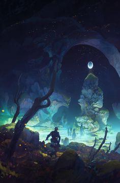 Pond - SciFi Fantasy Digital Art