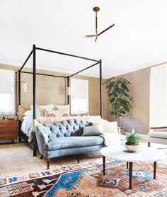 This modern family home is the epitome of Cali-cool with killer rugs and neutral hues. It's hip, edgy, and super stylish.