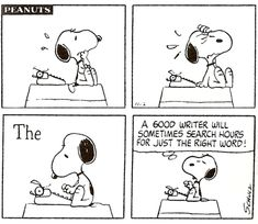 Snoopy the good writer