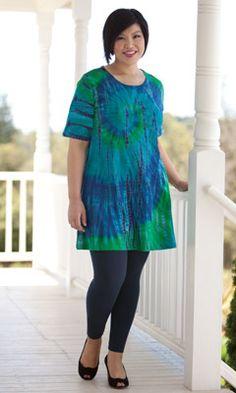 Plus Size Tops - IMPERIAL TACI TIE DYE TEE - Plus and Super Plus Size Clothes for Women - MiB Plus Size