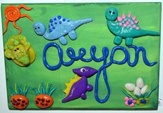 Custome made Personalized Door Sign  Dinosaur  by SketchiiStudio, $20.00