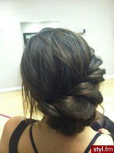 Side Braid Updo- bridesmaid hair???