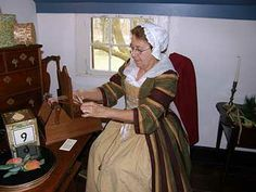 Weaving on the tape loom.