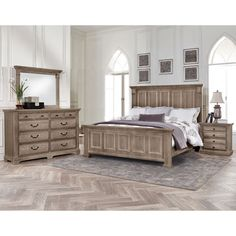 Hyland 5-piece King Bedroom Set in Driftwood Finish