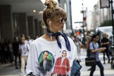 NYFW street style: These are the trends you'll be wearing next: Logo…