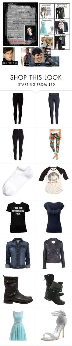 """""""Me in: 'Pretty Little Liars'"""" by j-j-fandoms ❤ liked on Polyvore featuring Vero Moda, H&M, New Look, Marvel Comics, American Eagle Outfitters, J.TOMSON, MANGO, IRO, rag & bone and Manolo Blahnik"""