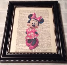 Love this piece of dictionary art with Minnie Mouse!