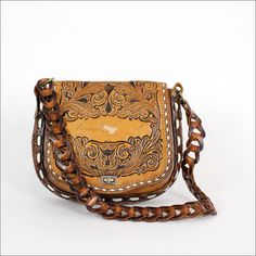 Vintage Clifton HandTooled Leather Bag by frenchhen1 on Etsy, $ ...
