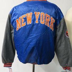 New York Knicks Mens Medium - XL 3XL 4XL 6XL Snap Front Varsity Jacket NYK 3