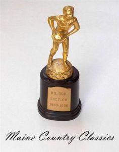 Vintage 1956 57 Bakelite Brass HQ SQD Section Basketball Trophy by Dodge | eBay