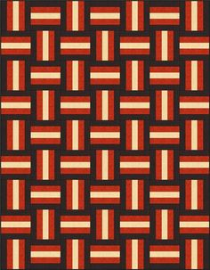 Rail fence quilt   shows different layouts