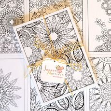 Because coloring isn't just for kids. Spend an afternoon coloring and then send happiness out into the world. :: Coloring postcards