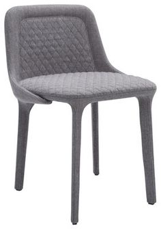 Lepel Padded chair - Padded fabric Grey Willow fabric / Black seam by Casamania
