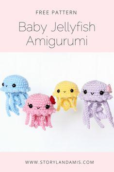 Storyland Amis, Free Pattern, Jellyfish Amigurumi