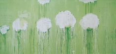 Untitled (Peony Blossom paintings) Cy Twombly acrylic wax Crayon pencil on wood 2007