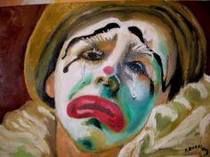 Clown triste de Pierre Rossion Je voudrai rire de mes non-sens. Je suis dans l'innocence. Ce monde est trop sérieux. Je ne serai jamais trop vieux Pour mettre cette perruque blonde Et un gros nez rouge… Ca gronde ! Je me sens si seul dans cette fête....