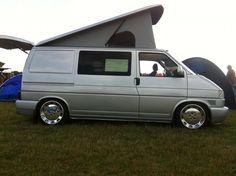 camper on polished wheels Vw Bus, Volkswagen, Vw T4 Transporter, T4 Camper, Campervan Ideas, Camper Van Conversion Diy, Busse, Cars And Motorcycles, Vans