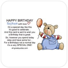 Free Birthday Cards For Nephew Happy Card