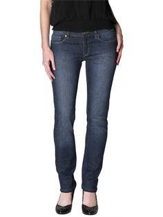 Slim Straight Jeans in Mid Indigo (Extra Long) -