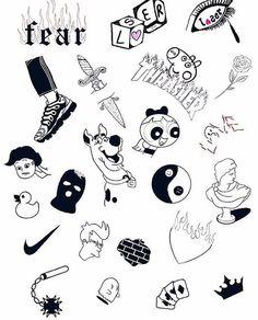Grunge Tattoo, Kritzelei Tattoo, Doodle Tattoo, Cute Tiny Tattoos, Dope Tattoos, Mini Tattoos, Body Art Tattoos, Sleeve Tattoos, Tattos