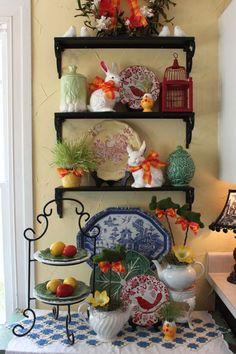 Idées déco pour Pâques avec des figurines de lapin