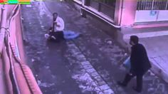 Brave man saves woman from brutal stabbing