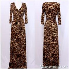 Leopard Maxi Dress | Shannasthreads