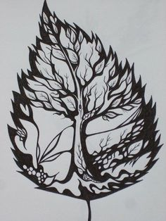 Pretty Cool, Could Also Do A Tree Design Inside A Feather Or Bird Shape Outline, Or Bird Inside Tree - Click for More...