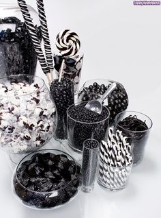 Similar to my candy buffet idea, but mine will be in wedding colors - purple, green and white