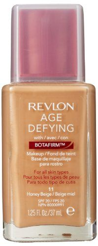 Revlon Age Defying Makeup with Botafirm for Normal/Combination Skin, Honey Beige, 1.25-Ounce Revlon,.