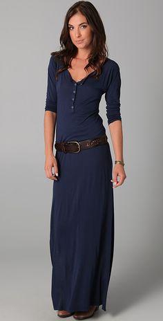 Daftbird Henley Long Sleeve Dress | SHOPBOP