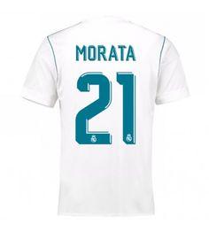 Billiga Real Madrid Alvaro Morata 21 Hemmatröja 17-18 Kortärmad Manchester United, Ronaldo, Real Madrid, Barcelona, 21st, Goaltender, Leotards, Names, Man United