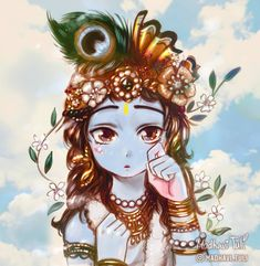 Art challange of Please visit her page and partecipate too! I just loved the idea and tried it too! What do you think? Krishna Statue, Cute Krishna, Radha Krishna Pictures, Krishna Radha, Radha Rani, Shree Krishna Wallpapers, Lord Krishna Hd Wallpaper, Krishna Drawing, Krishna Painting