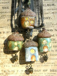 faery cottage leaf green by woodlandjewelries on Etsy