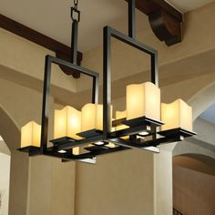 Justice Design Group CandleAria Montana 8 Up And Three Downlight Matte Black Bridge Chandelier Cndl 8618 19 Crem Mblk Linear Chandelier, Black Chandelier, Rustic Chandelier, Contemporary Chandelier, Rustic Lighting, Chandelier Pendant Lights, Chandeliers, Outdoor Lighting, Candle Shades