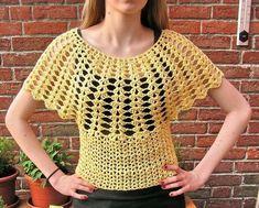 Best 11 Crochet vest by – SkillOfKing. Crochet Vest Pattern, Crochet Shirt, Crochet Cardigan, Crochet Lace, Crochet Patterns, Knitting Patterns, Mode Crochet, Crochet Woman, Beautiful Crochet